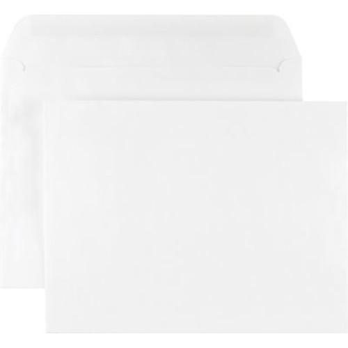 Staples Side-Opening Booklet Envelopes, White Wove, Gummed Closure