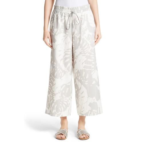 Crop Linen Drawstring Pants