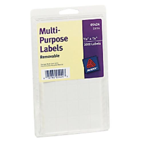 Avery Removable Inkjet/Laser Multipurpose Labels, 5/8