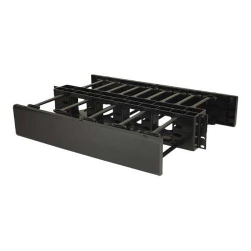 C2G 2U Double-Sided Horizontal Cable Management Panel - cable management panel - 2U