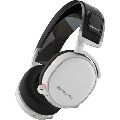 SteelSeries - Arctis 7 Wireless DTS 7.1 Surround Gaming Headset for PC, PlayStation 4, VR, Mac and Wired for Xbox One, Android and iOS - White