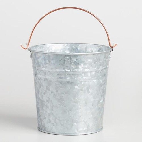 Galvanized Metal and Copper Pail