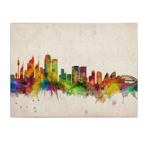 Sydney Skyline by Michael Tompsett, 16 by 24-Inch Canvas Wall Art: Artwork: Posters & Prints [16 by 24-Inch]