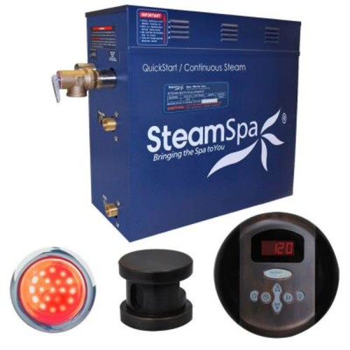 SteamSpa Indulgence 6kW Steam Bath Generator Package in Oil Rubbed Bronze