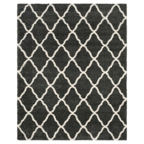 Safavieh Hudson Shag Dark Gray/Ivory 6 ft. x 9 ft. Area Rug