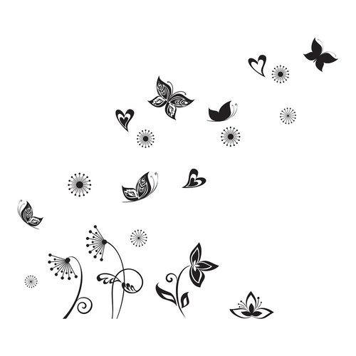 Brewster 19.7 in. x 12.2 in. Butterflies Silhouette Wall Decal