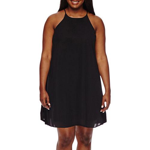 Decree Swing Halter Dress - Juniors Plus
