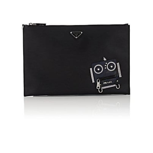 Prada Robot Leather Pouch