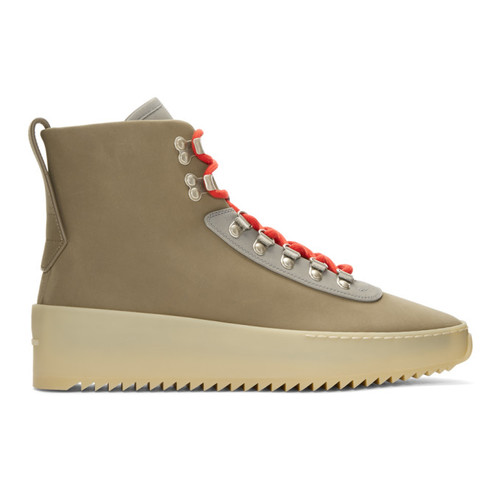 Taupe Hiking Boots
