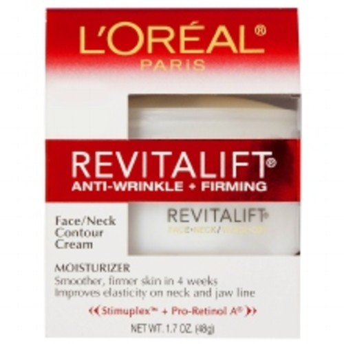 L'Oreal Paris Revitalift Face/Neck Contour Cream, Anti-Wrinkle + Firming Moisturizer