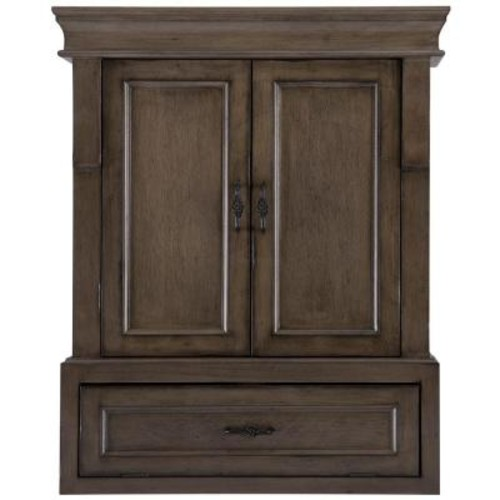 Home Decorators Collection Naples 26-3/4 in. W Bathroom Storage Wall Cabinet in Distressed Grey