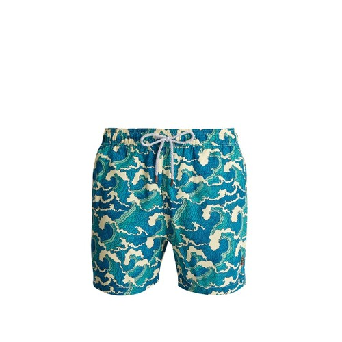 Ohama wave-print swim shorts