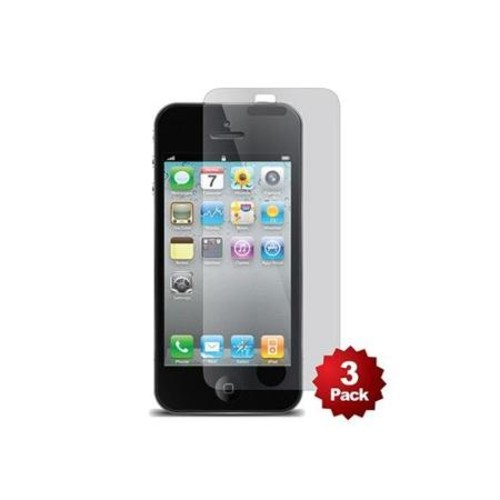 Monoprice Screen Protector (3-Pack) with Cleaning Cloth for iPhone 5/5s/5c, Transparent Finish