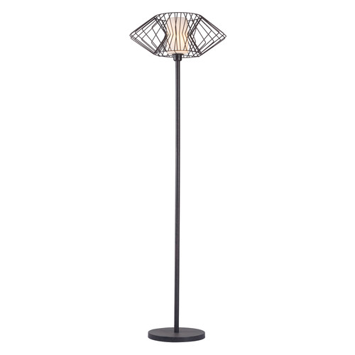 Tumble Floor Lamp by Zuo | rust | Gilt