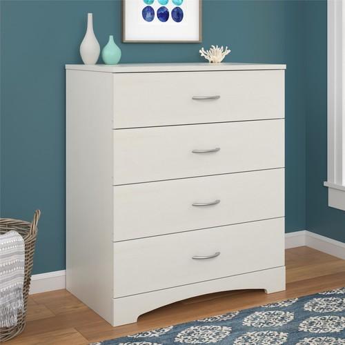 Ameriwood Home Crescent Point 4-Drawer Dresser - Vintage White