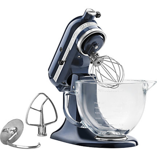 KitchenAid Artisan Design Series 5-Quart Tilt-Head Stand Mixer with Glass Bowl