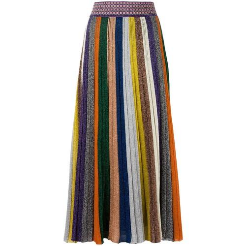 MISSONI Striped Pleated Skirt