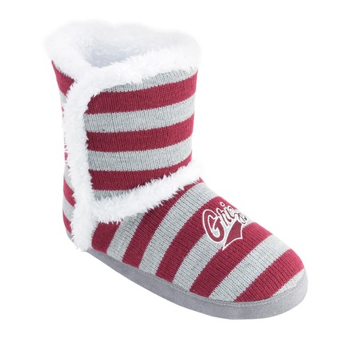 Women's Montana Grizzlies Striped Boot Slippers