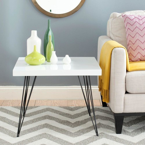 Safavieh Wolcott White and Black End Table