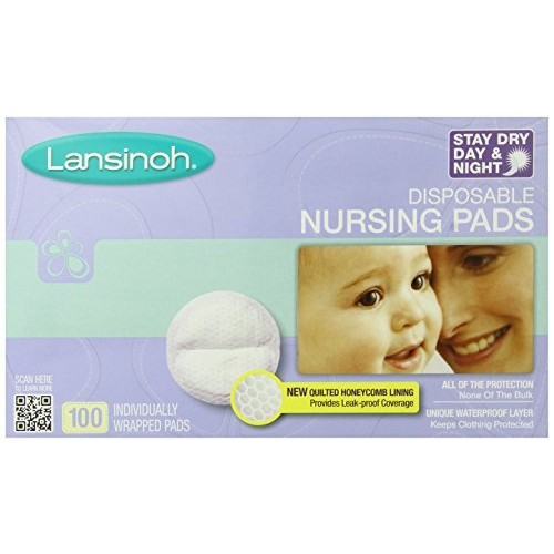 Lansinoh Stay Dry Disposable Nursing Pads, Number One Selling Breastfeeding Pad For Breastfeeding Mothers, Leak Proof Protection, Maximum Comfort and Discretion, 100 Count [100 Count]