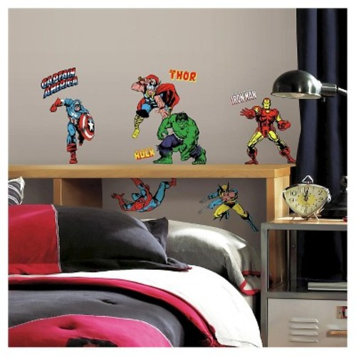 RoomMates 5 in. x 11.5 in. Marvel Classics Peel and Stick Wall Decals