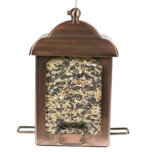Perky-Pet Antique Copper Chalet Bird Feeder