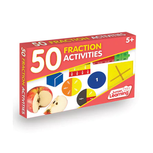 Junior Learning 50 Fraction Activities Learning Set