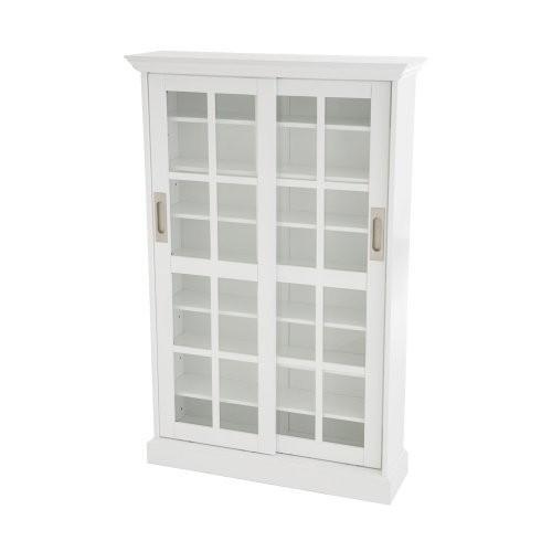 Sliding Door Media Cabinet - White [White]