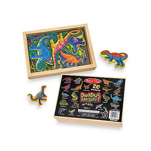 Melissa & Doug 20-Piece Wooden Dinosaur Magnet Set