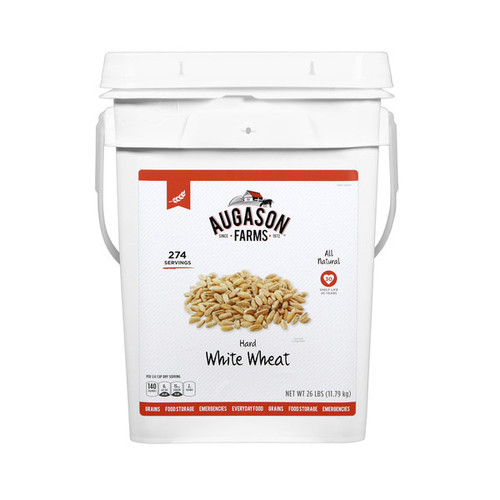 Augason Farms Hard White Wheat Pail - 4 gallon pail