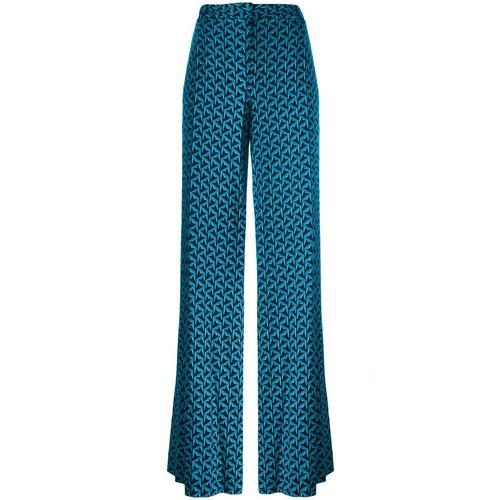 DIANE VON FURSTENBERG Stylised Print Trousers