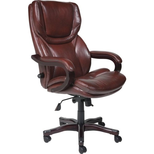 Serta Executive Big & Tall Office Chair, Eco-conscious Bonded Leather, Brown, 43506