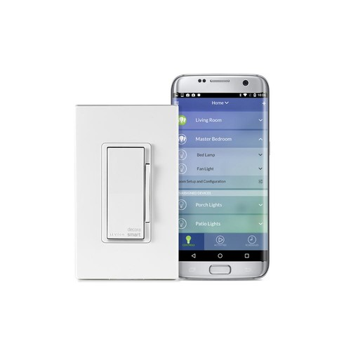 Leviton Decora Smart Wi-Fi 600-Watt Universal LED/Incandescent Dimmer, Works with Amazon Alexa and Google (3-Pack)