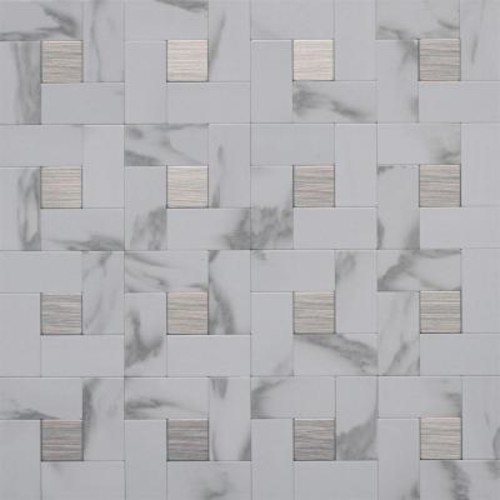 Instant Mosaic Peel and Stick Metal Wall Tile - 3 in. x 6 in. Tile Sample