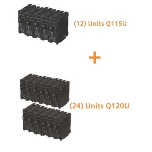 Siemens 15 Amp Single Pole (12-Pack) and 20 Amp Single Pole (24-Pack) Circuit Breakers