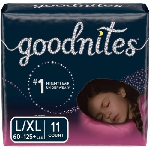 GoodNites Bedtime Underwear for Girls Jumbo Pack (Select Size)