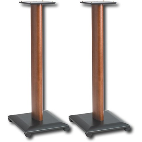 Sanus Natural Foundations 30 Inch Speaker Stands, Pair (Cherry) - NF30C