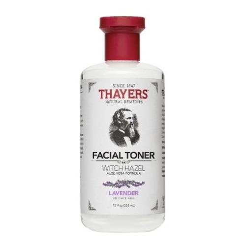 Thayers Alcohol-Free Witch Hazel with Organic Aloe Vera Formula Toner, Lavender 12 oz [Lavendar]