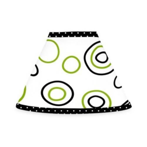 Sweet Jojo Designs Spirodot Lamp Shade in Lime/Black