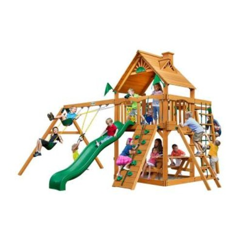 Gorilla Playsets Navigator with Amber Posts Cedar Playset