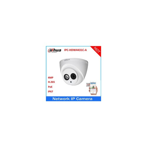 Dahua IPC-HDW4431C-A 3.6 lens HD 4MP PoE Built-in Mic IR Dome Network Security IP Camera