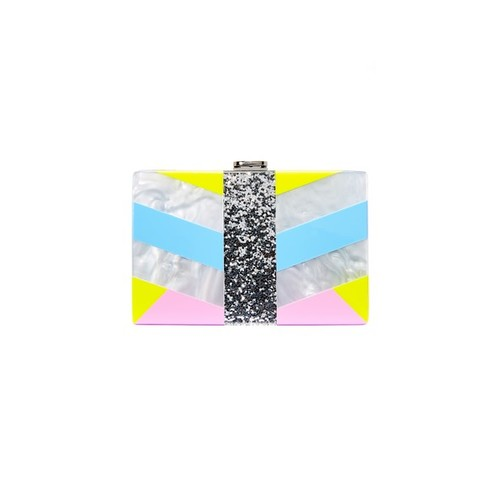 MILLY Geo Square Clutch