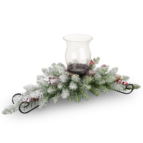 National Tree Company 30 in. Dunhill Fir Centerpiece and Candle Holder
