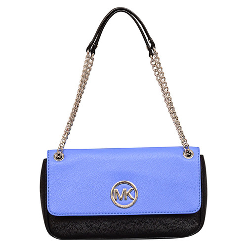 Michael Kors Fulton Small Oxford Blue Shoulder Flap Handbag