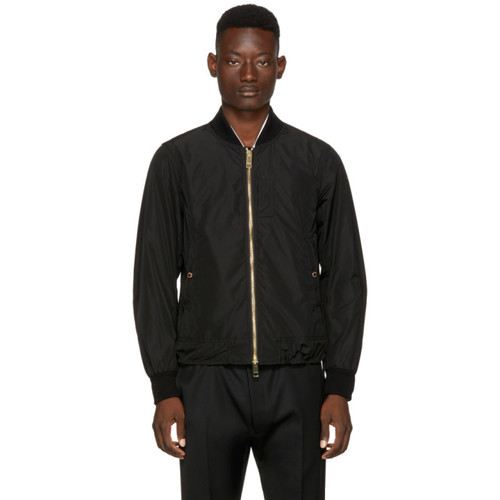 BURBERRY Black Eddison Bomber Jacket