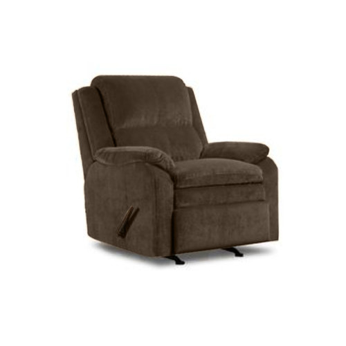 Simmons Brown Pub Back Rocker Recliner