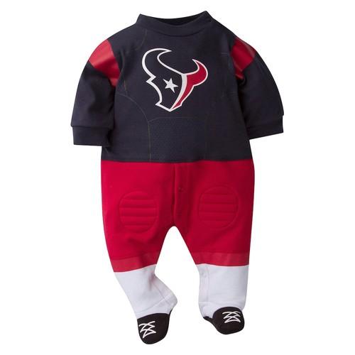 Baby Houston Texans Team Uniform Footed Sleep & Play
