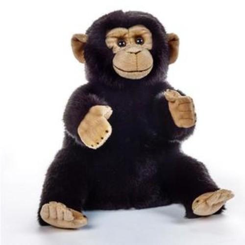 National Geographic Italian Design Stuffed Lelly Hand Puppet - Chimpanzee