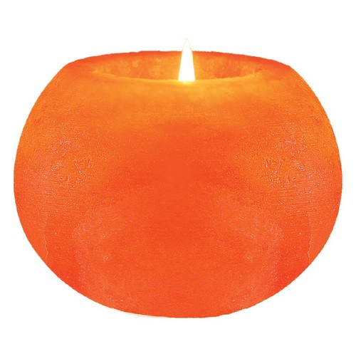 WBM Hand Carved Ball Shape Himalayan Crystal Salt 1 tealight Candle Holder