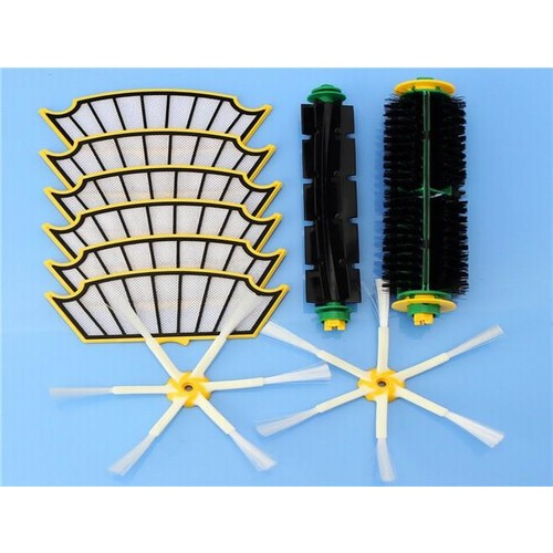 10pcs Vacuum Cleaner Accessories Kit Filters and Brushes for iRobot Roomba 500 Series